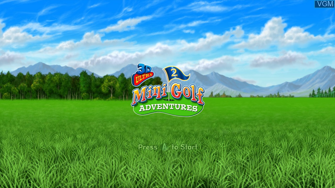 Image de l'ecran titre du jeu 3D Ultra MiniGolf Adventures 2 sur Microsoft Xbox 360