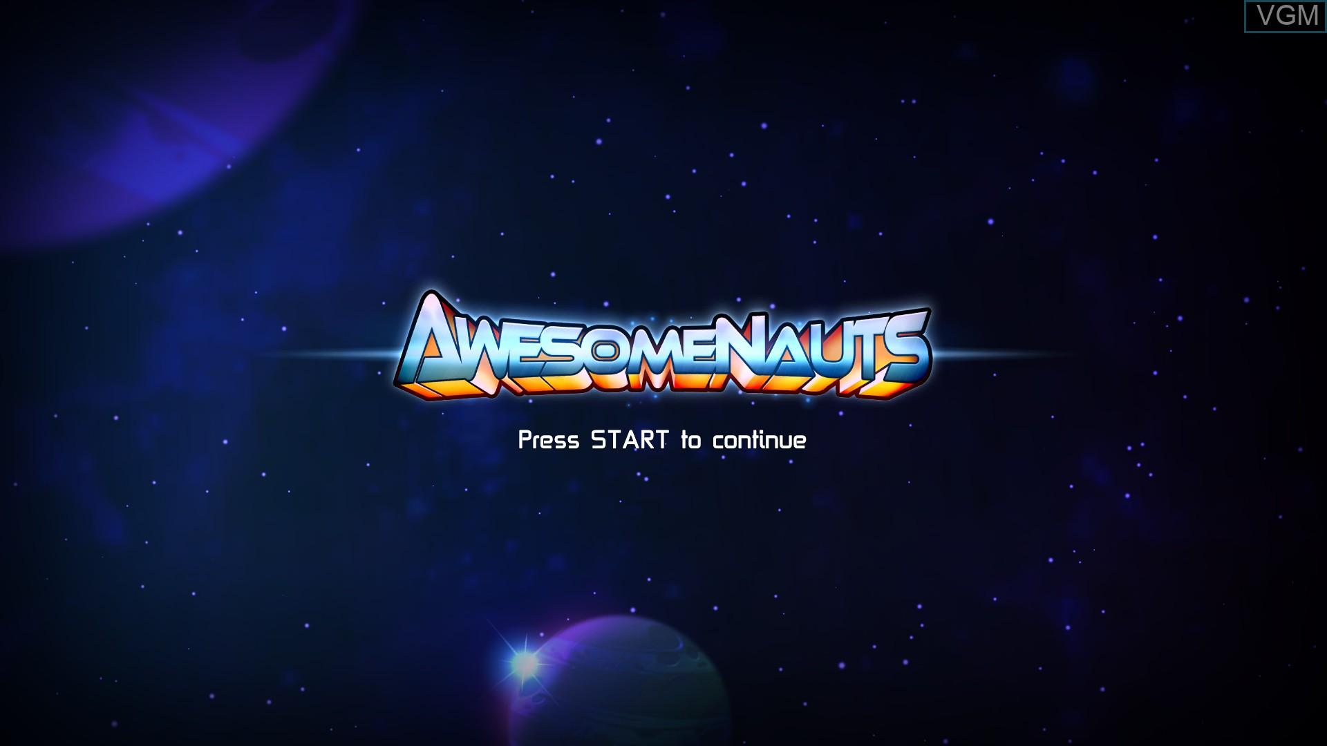 Image de l'ecran titre du jeu Awesomenauts sur Microsoft Xbox 360