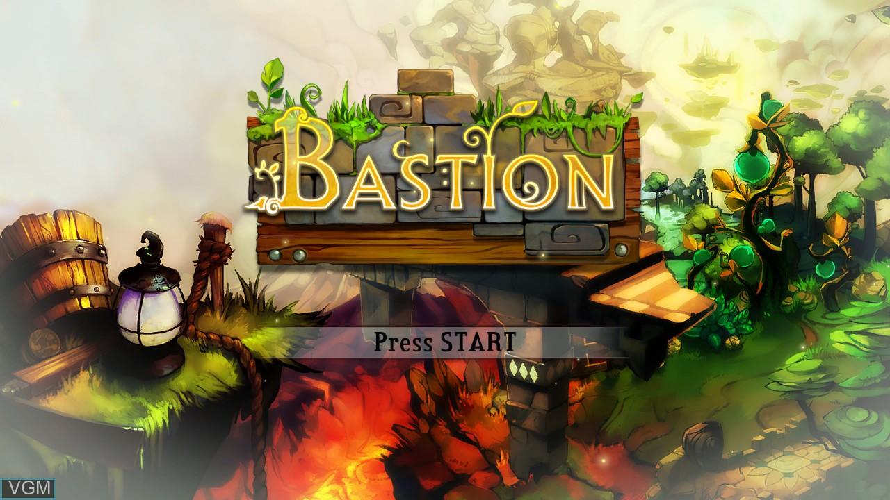 Image de l'ecran titre du jeu Bastion sur Microsoft Xbox 360