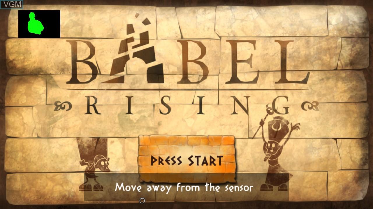 Image de l'ecran titre du jeu Babel Rising sur Microsoft Xbox 360