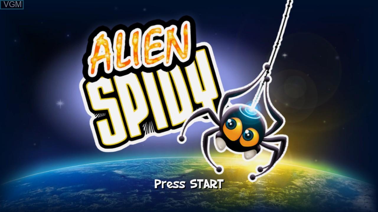 Image de l'ecran titre du jeu Alien Spidy sur Microsoft Xbox 360