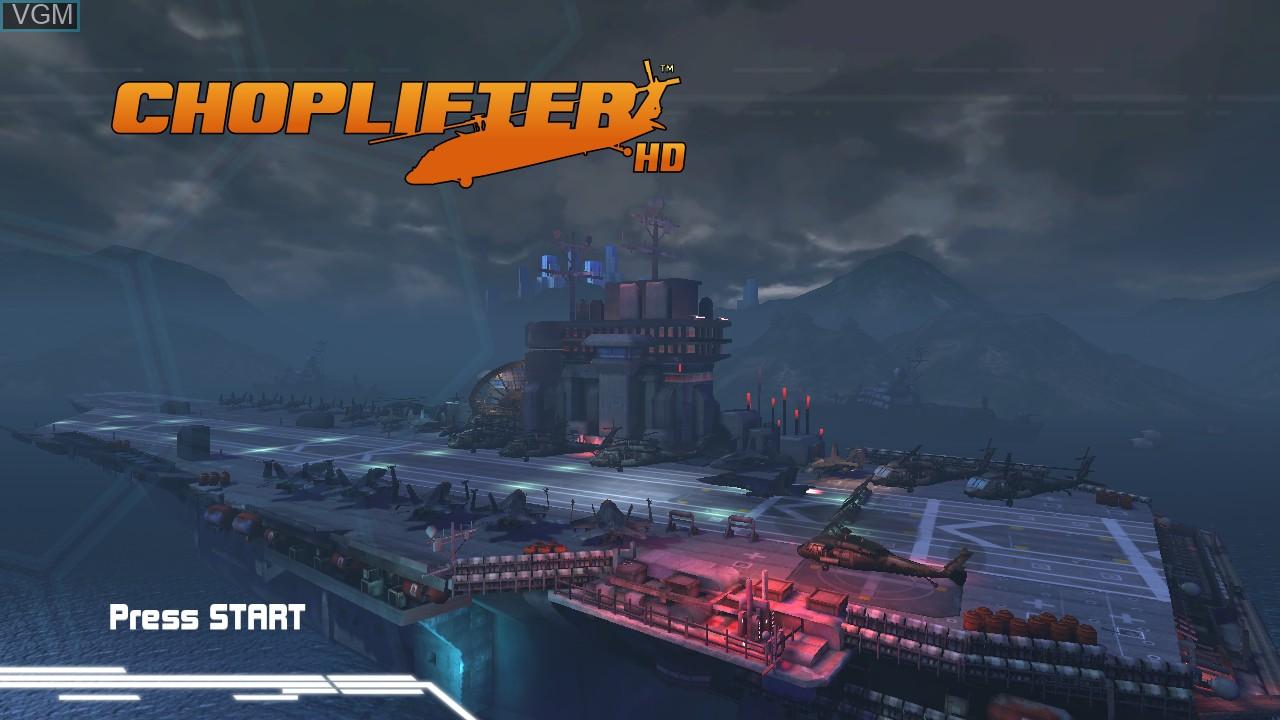 Image de l'ecran titre du jeu Choplifter HD sur Microsoft Xbox 360
