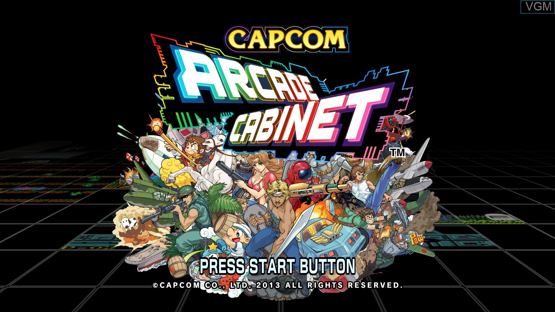 Image de l'ecran titre du jeu Capcom Arcade Cabinet sur Microsoft Xbox 360