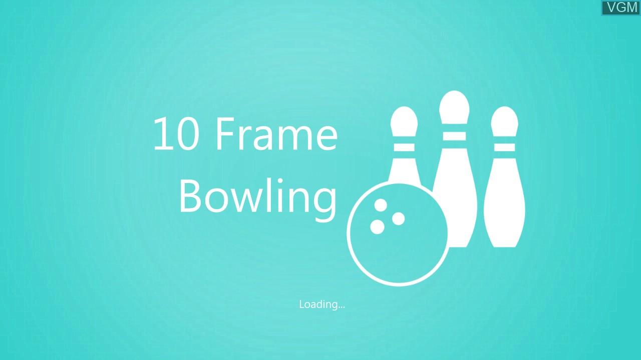 Image de l'ecran titre du jeu Kinect Sports - 10 Frame Bowling sur Microsoft Xbox 360