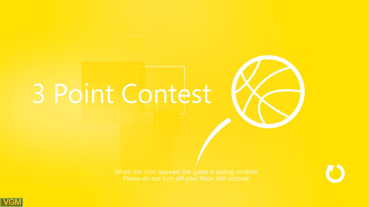 Image de l'ecran titre du jeu 3 Point Contest sur Microsoft Xbox 360