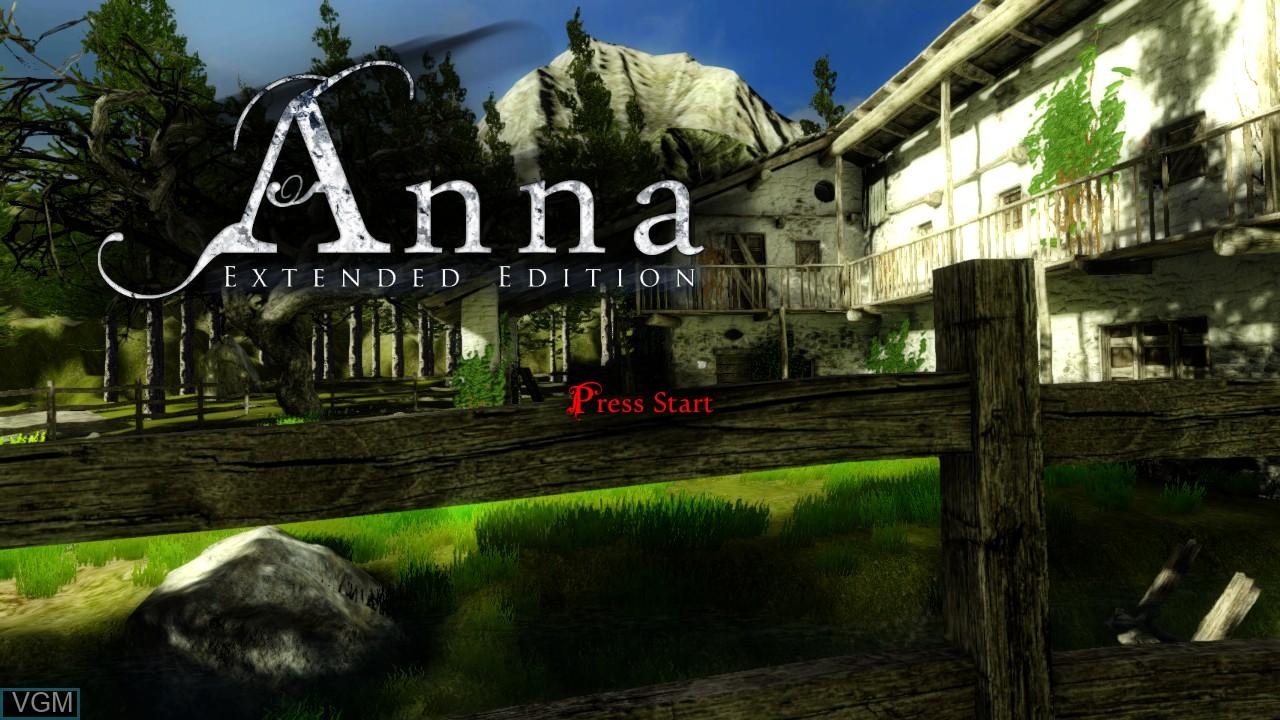 Image de l'ecran titre du jeu Anna - Extended Edition sur Microsoft Xbox 360
