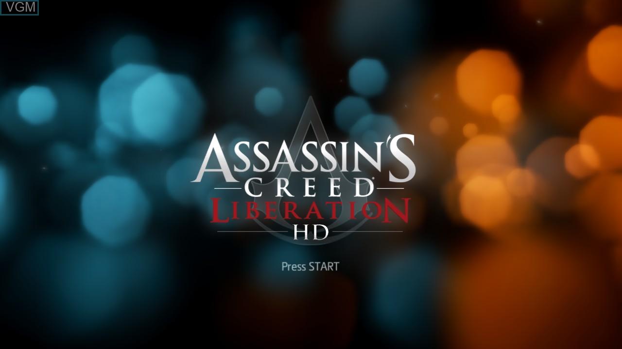 Image de l'ecran titre du jeu Assassin's Creed Liberation HD sur Microsoft Xbox 360