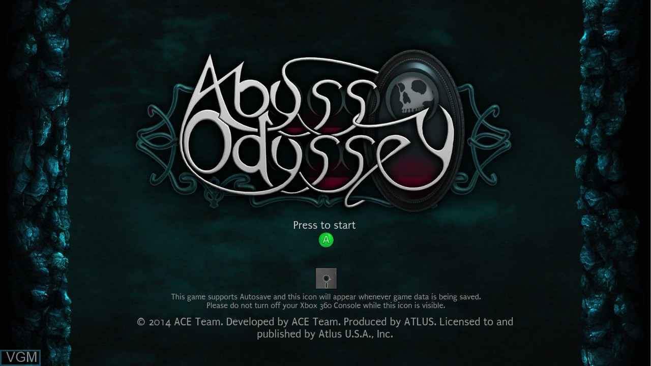 Image de l'ecran titre du jeu Abyss Odyssey sur Microsoft Xbox 360
