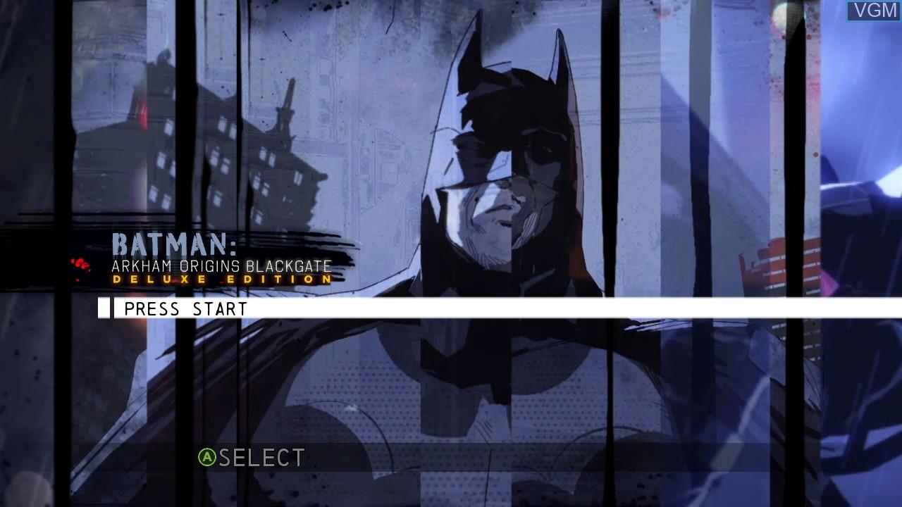 Image de l'ecran titre du jeu Batman - Arkham Origins Blackgate - Deluxe Edition sur Microsoft Xbox 360