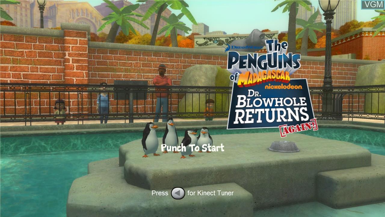 Image de l'ecran titre du jeu Penguins of Madagascar, The - Dr. Blowhole Returns - Again! sur Microsoft Xbox 360