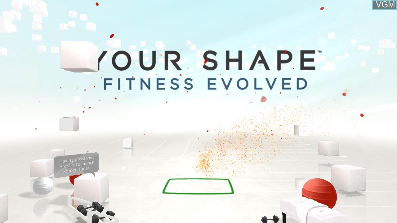 Image de l'ecran titre du jeu Your Shape - Fitness Evolved sur Microsoft Xbox 360