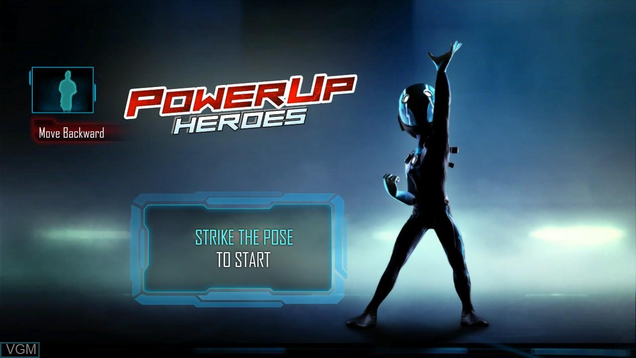 Image de l'ecran titre du jeu PowerUp Heroes sur Microsoft Xbox 360