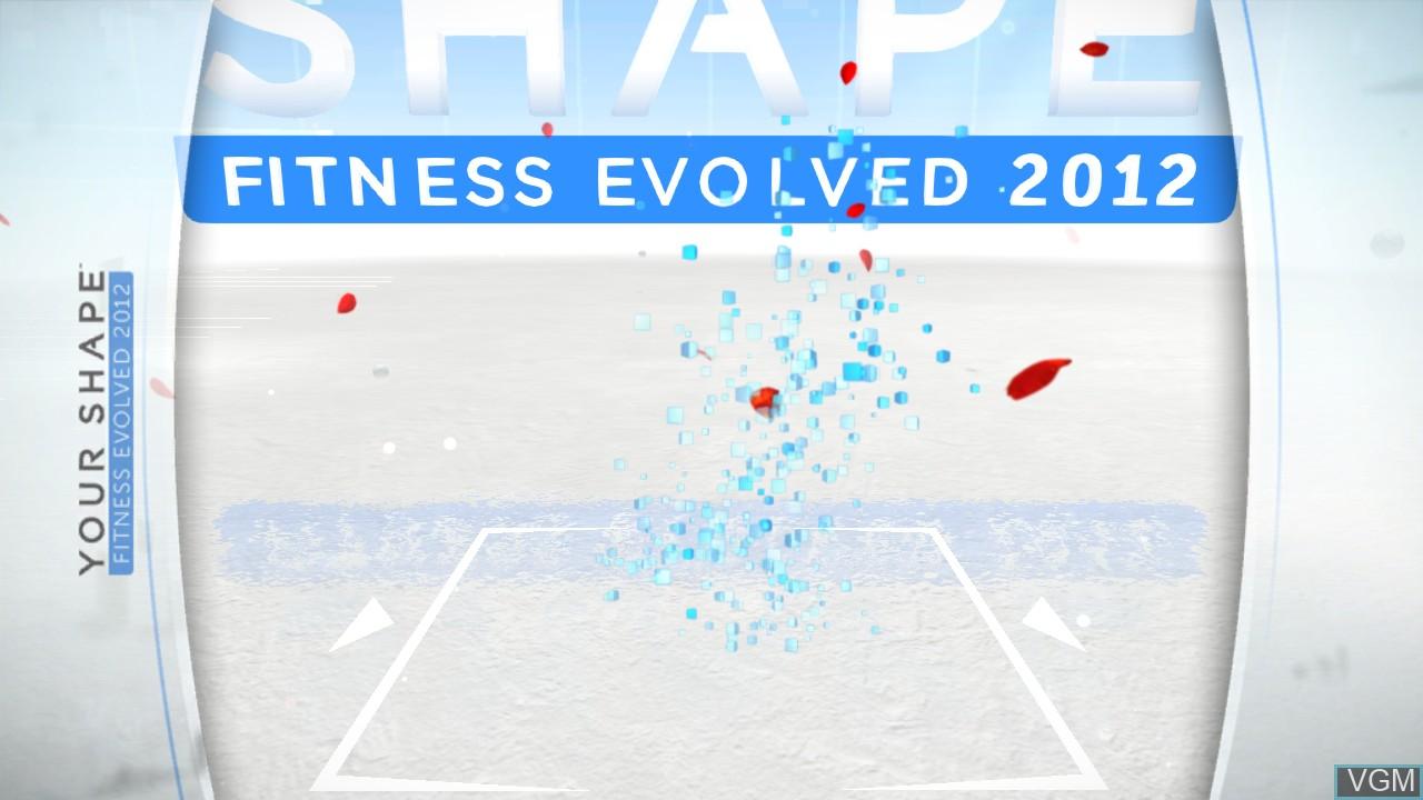 Image de l'ecran titre du jeu Your Shape Fitness Evolved 2012 sur Microsoft Xbox 360