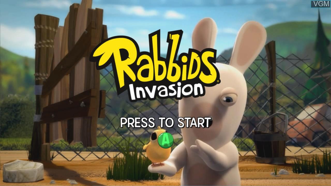 Image de l'ecran titre du jeu Rabbids Invasion sur Microsoft Xbox 360