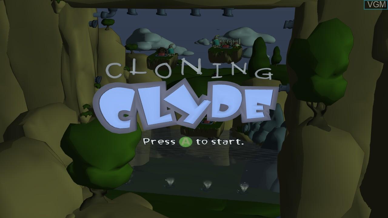 Image de l'ecran titre du jeu Cloning Clyde sur Microsoft Xbox 360