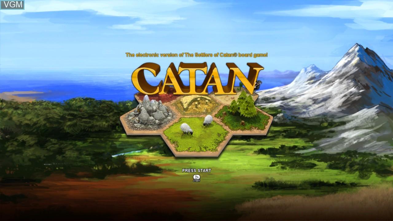 Image de l'ecran titre du jeu Catan sur Microsoft Xbox 360