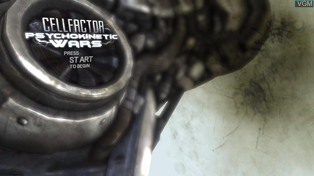 Image de l'ecran titre du jeu CellFactor - Psychokinetic Wars sur Microsoft Xbox 360