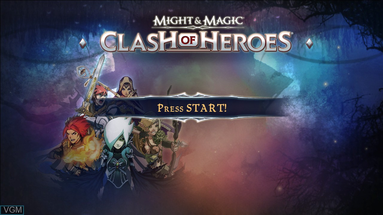 Image de l'ecran titre du jeu Might & Magic - Clash of Heroes sur Microsoft Xbox 360