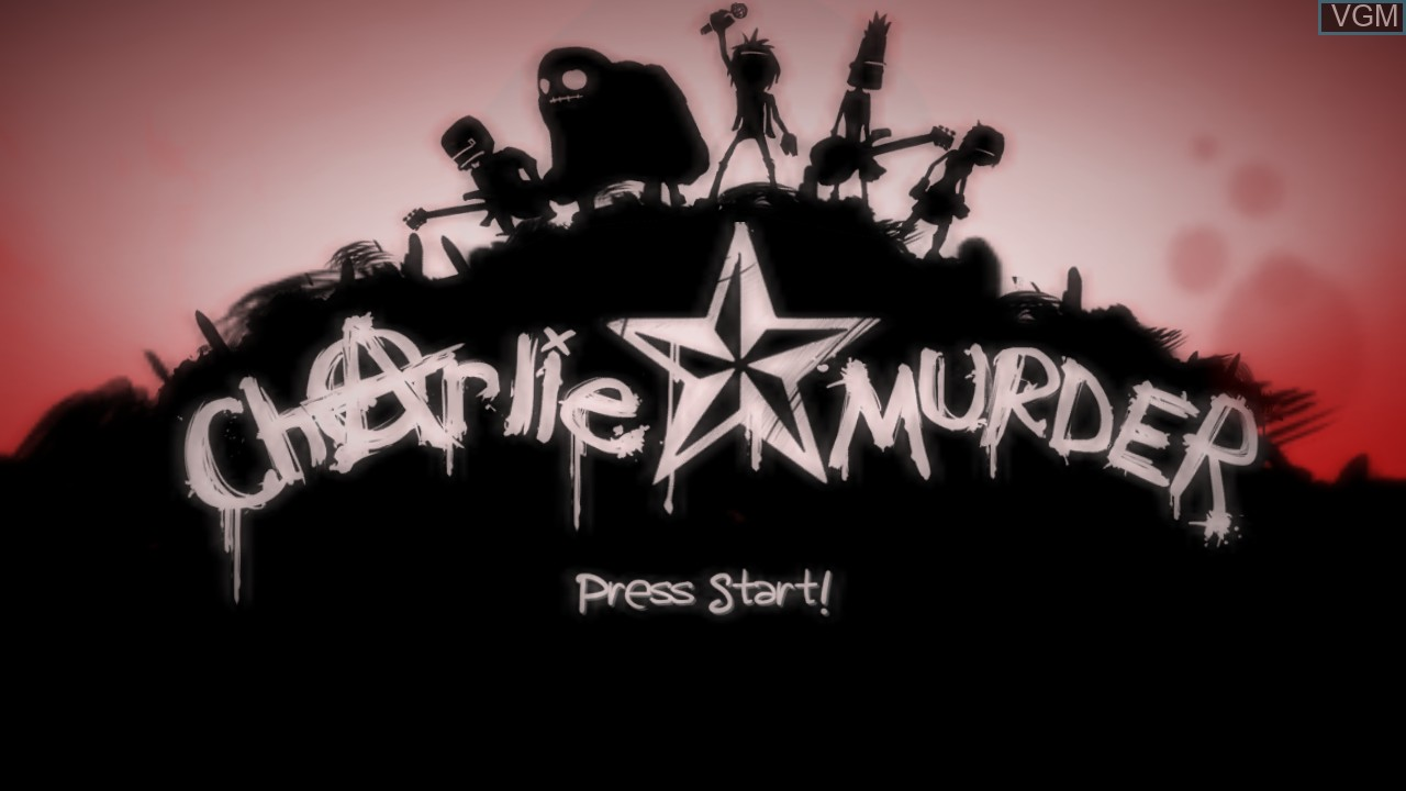 Image de l'ecran titre du jeu Charlie Murder sur Microsoft Xbox 360