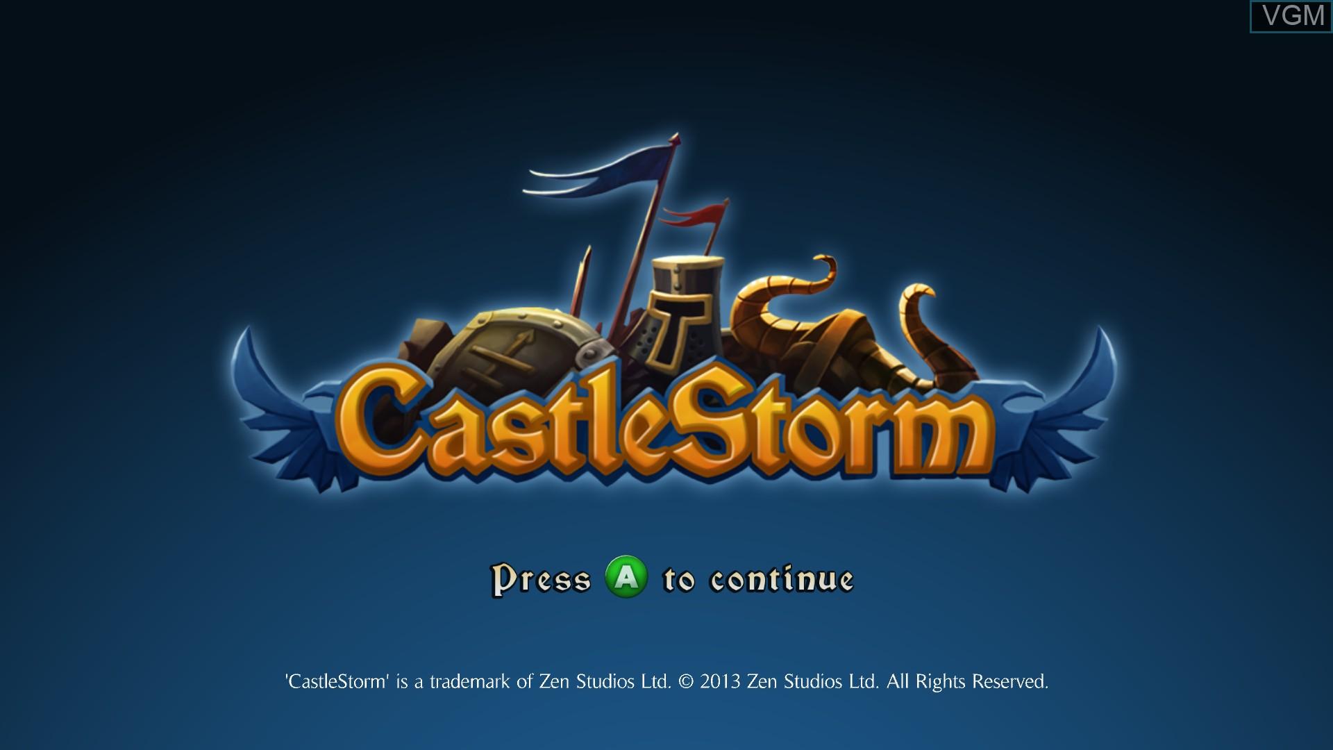 Image de l'ecran titre du jeu CastleStorm sur Microsoft Xbox 360