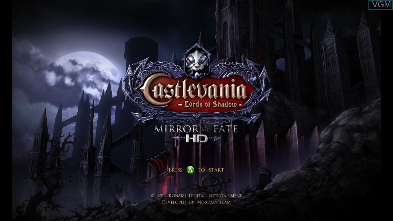Image de l'ecran titre du jeu Castlevania - Lords of Shadow - Mirror of Fate HD sur Microsoft Xbox 360