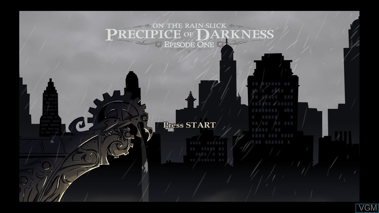 Image de l'ecran titre du jeu Penny Arcade Adventures - On the Rain-Slick Precipice of Darkness Episode One sur Microsoft Xbox 360