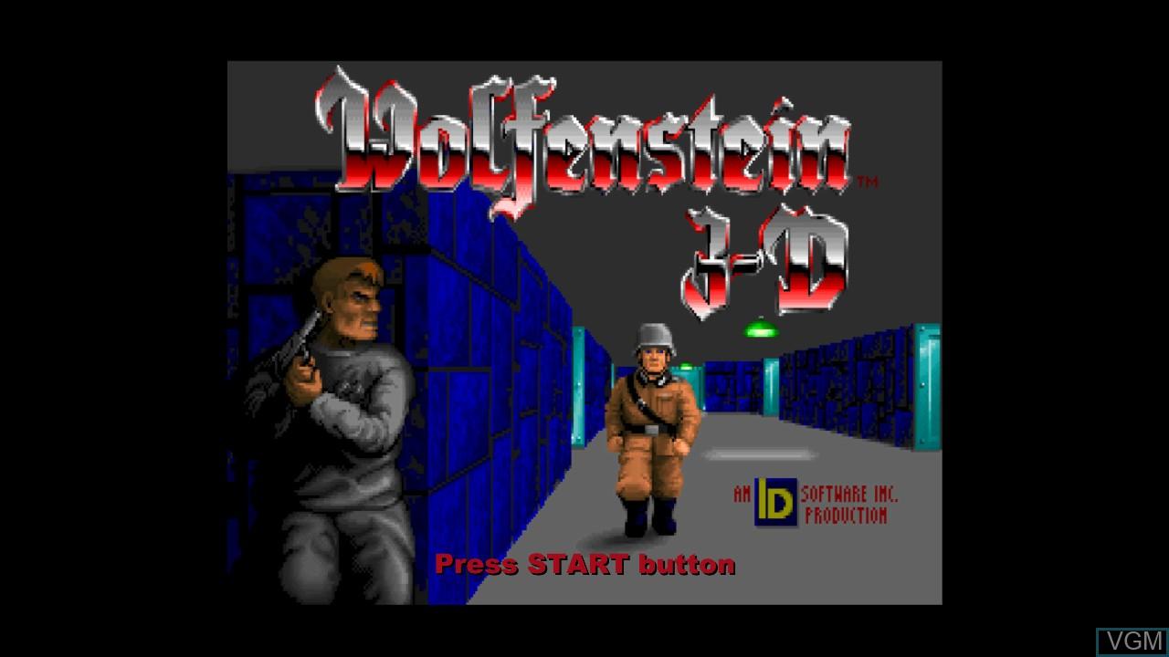 Image de l'ecran titre du jeu Wolfenstein 3D sur Microsoft Xbox 360