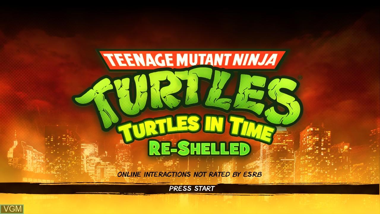 Image de l'ecran titre du jeu Teenage Mutant Ninja Turtles - Turtles in Time Re-Shelled sur Microsoft Xbox 360