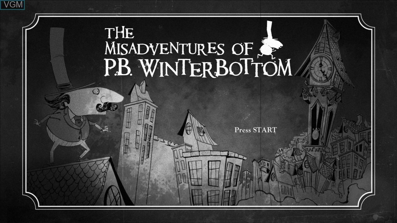 Image de l'ecran titre du jeu Misadventures of P.B. Winterbottom, The sur Microsoft Xbox 360