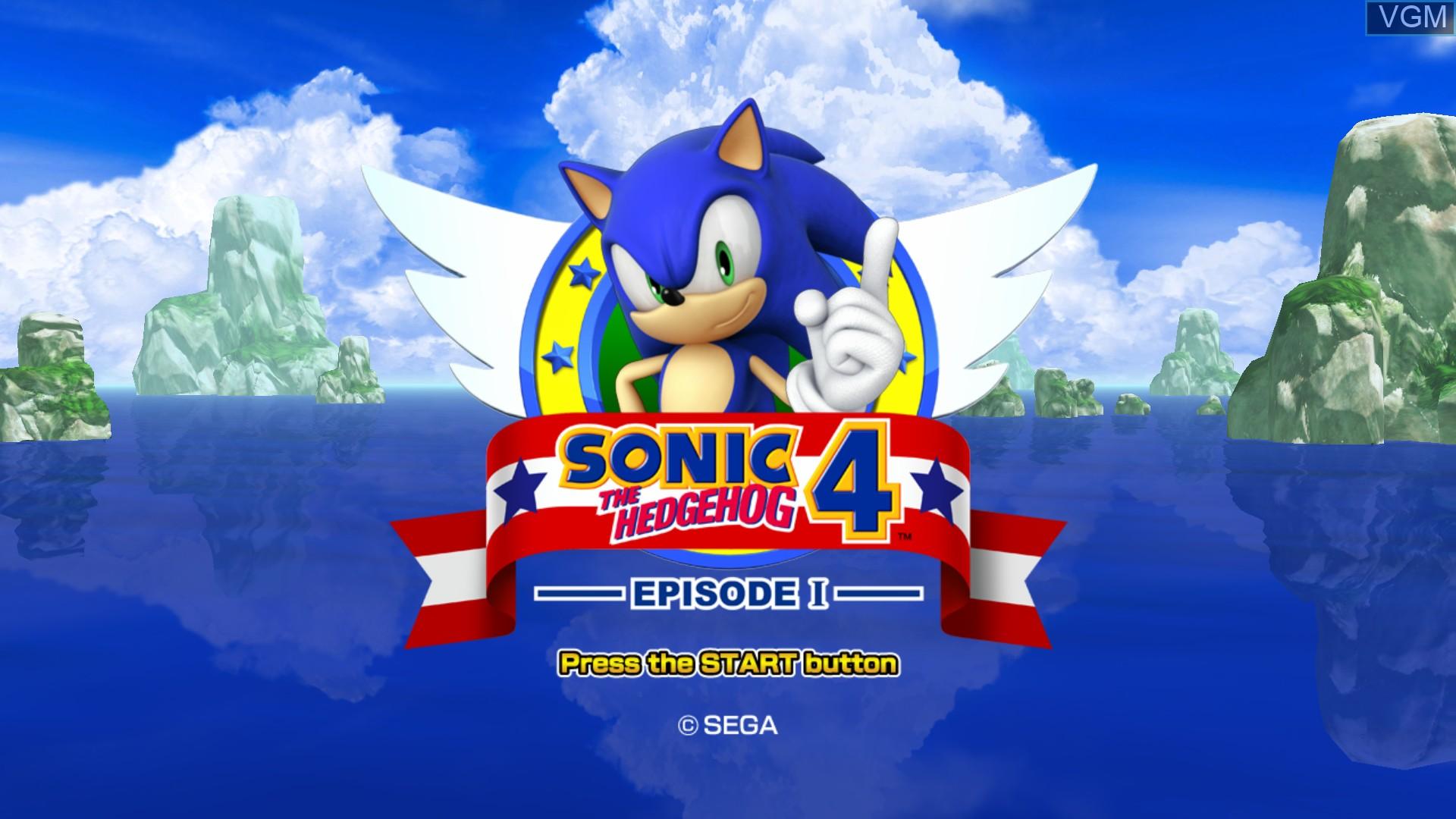 Image de l'ecran titre du jeu Sonic the Hedgehog 4 - Episode I sur Microsoft Xbox 360
