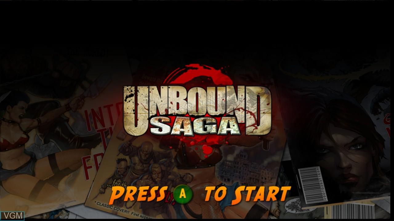 Image de l'ecran titre du jeu Unbound Saga sur Microsoft Xbox 360