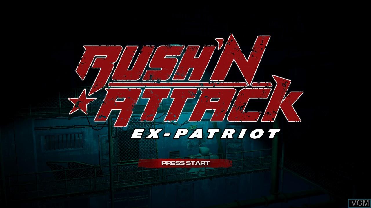 Image de l'ecran titre du jeu Rush'N Attack Ex-Patriot sur Microsoft Xbox 360
