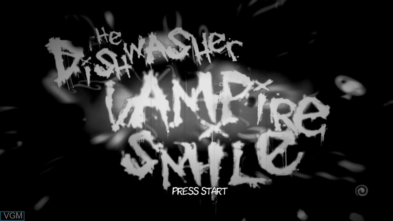 Image de l'ecran titre du jeu The Dishwasher - Vampire Smile sur Microsoft Xbox 360