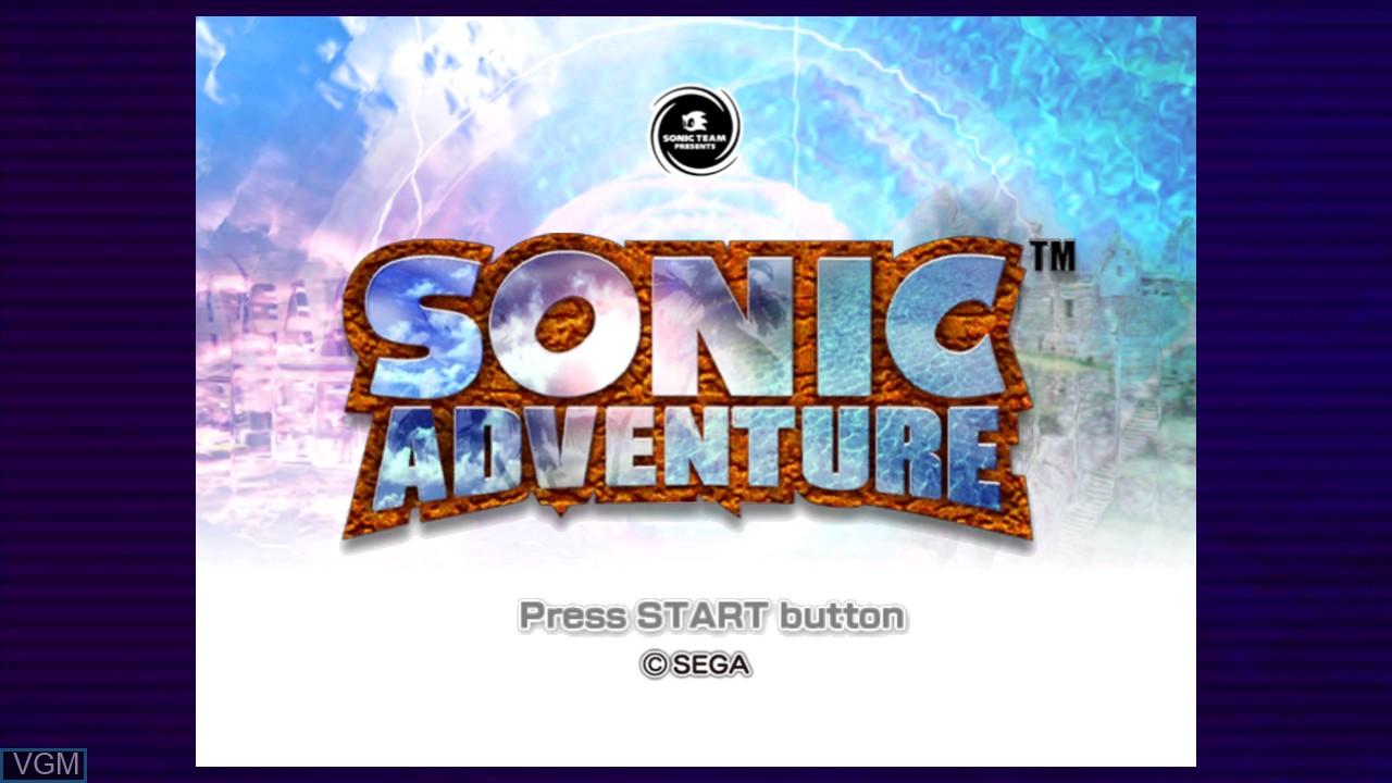 Image de l'ecran titre du jeu Sonic Adventure sur Microsoft Xbox 360