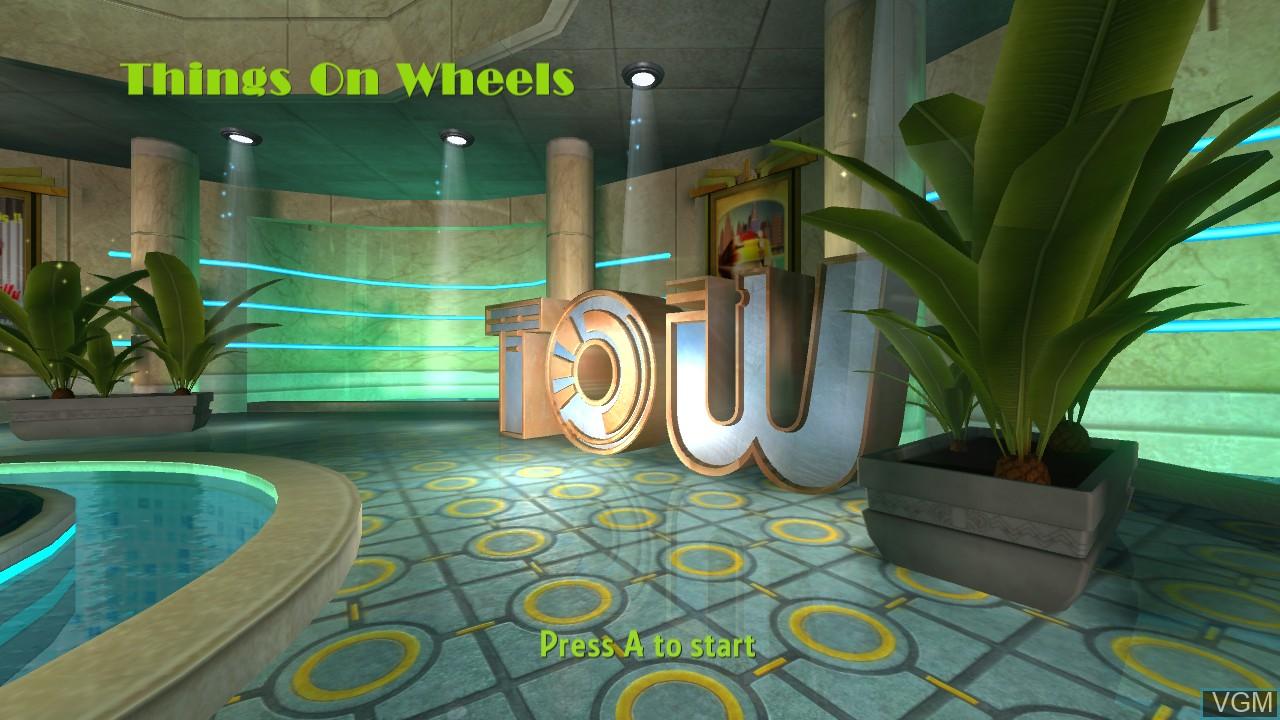 Image de l'ecran titre du jeu Things on Wheels sur Microsoft Xbox 360