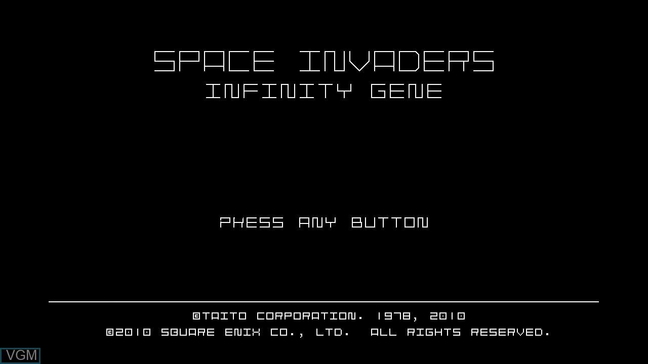 Image de l'ecran titre du jeu Space Invaders Infinity Gene sur Microsoft Xbox 360