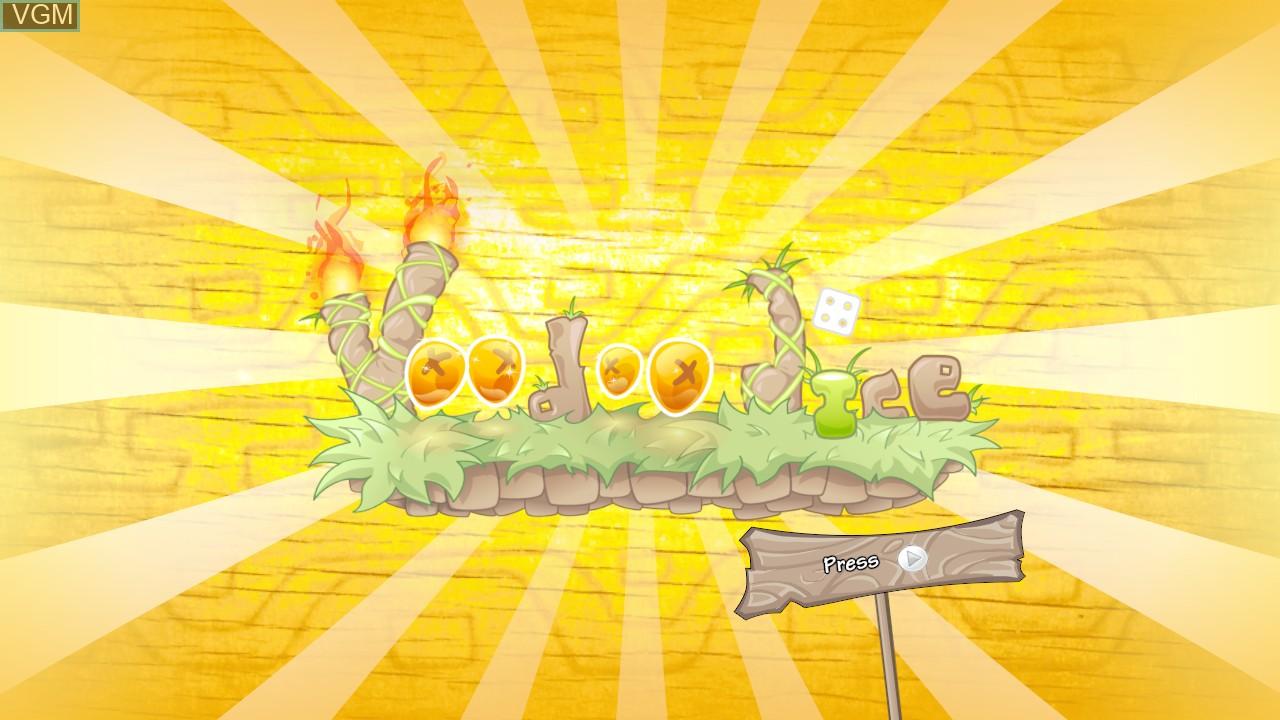 Image de l'ecran titre du jeu Voodoo Dice sur Microsoft Xbox 360