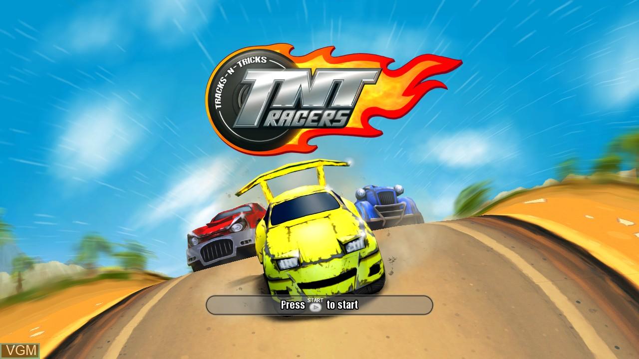 Image de l'ecran titre du jeu TNT Racers sur Microsoft Xbox 360