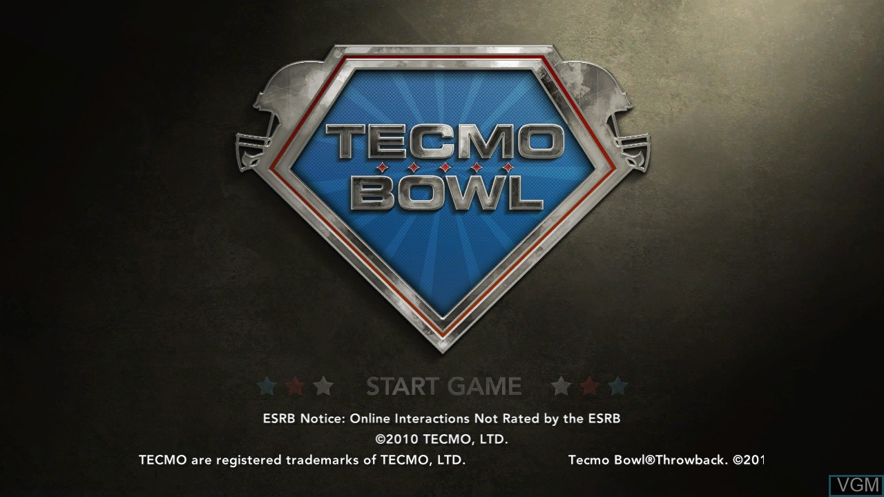 Image de l'ecran titre du jeu Tecmo Bowl Throwback sur Microsoft Xbox 360