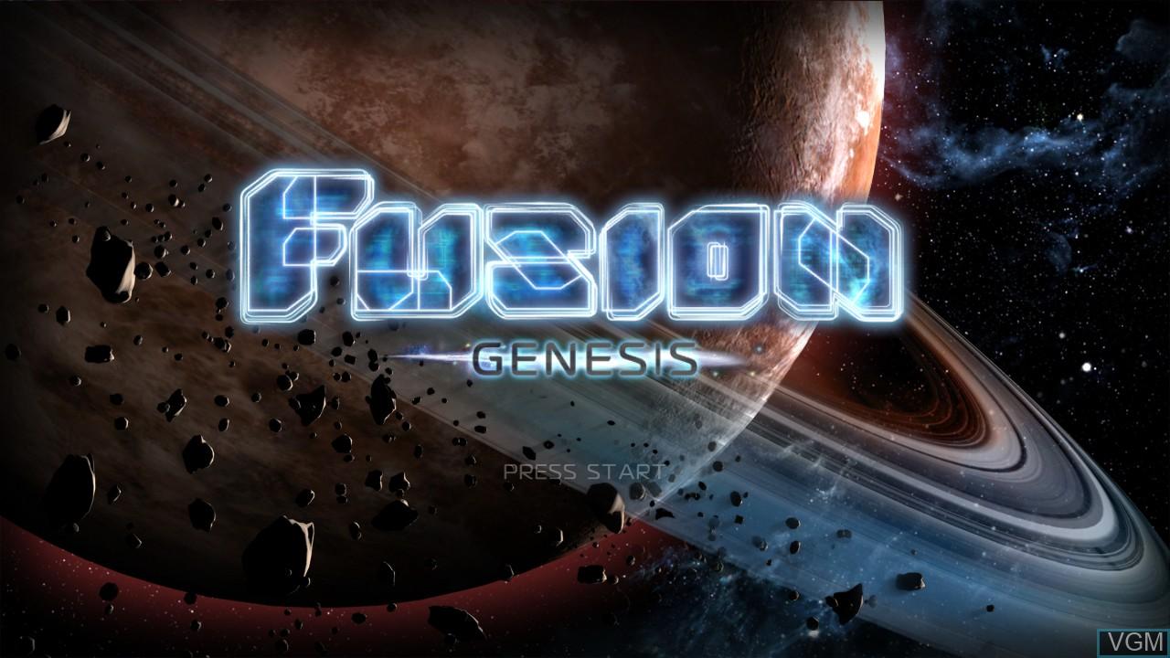 Image de l'ecran titre du jeu Fusion - Genesis sur Microsoft Xbox 360