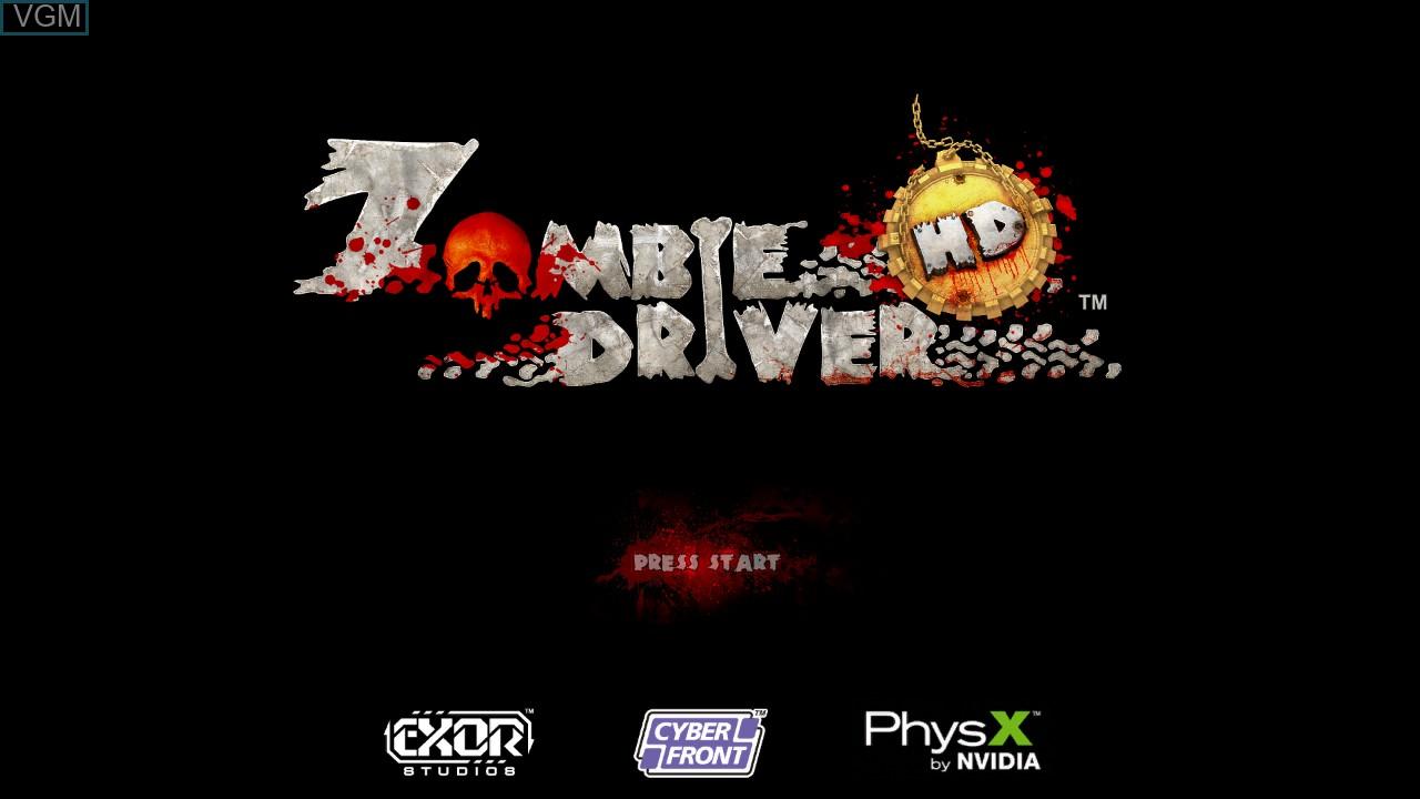 Image de l'ecran titre du jeu Zombie Driver HD sur Microsoft Xbox 360
