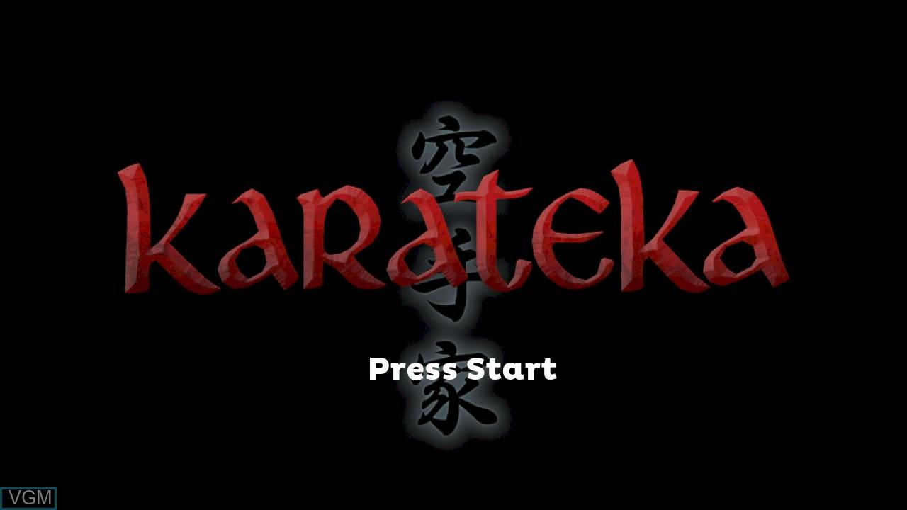 Image de l'ecran titre du jeu Karateka sur Microsoft Xbox 360