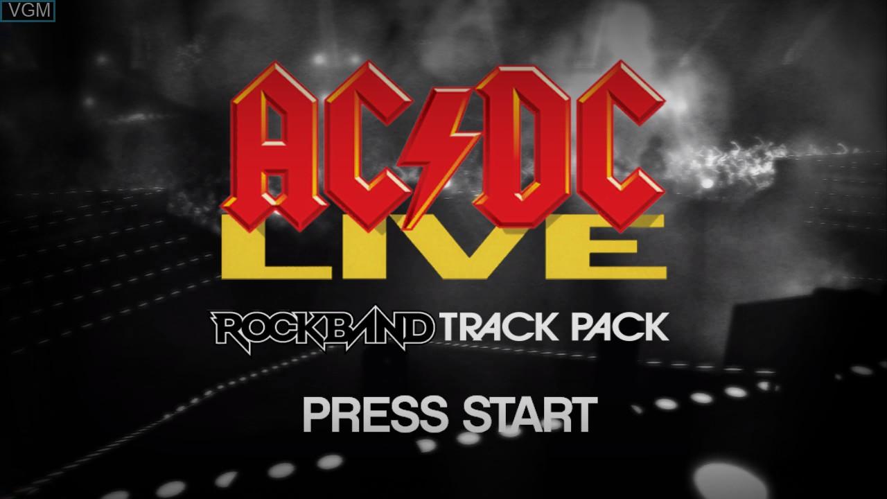 Image de l'ecran titre du jeu AC/DC LIVE - Rock Band Track Pack sur Microsoft Xbox 360