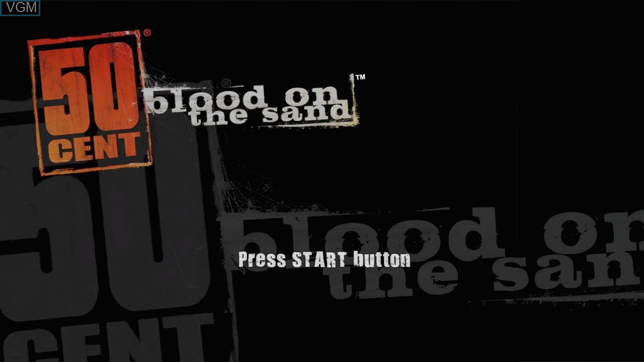 Image de l'ecran titre du jeu 50 Cent - Blood on the Sand sur Microsoft Xbox 360