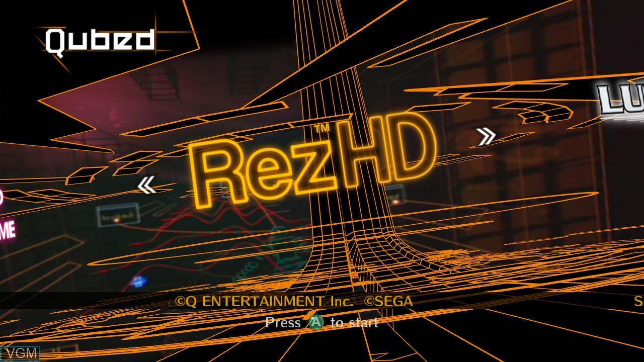 Image de l'ecran titre du jeu Qubed sur Microsoft Xbox 360