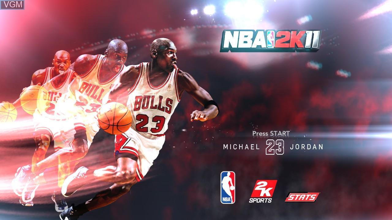 Image de l'ecran titre du jeu NBA 2K11 sur Microsoft Xbox 360
