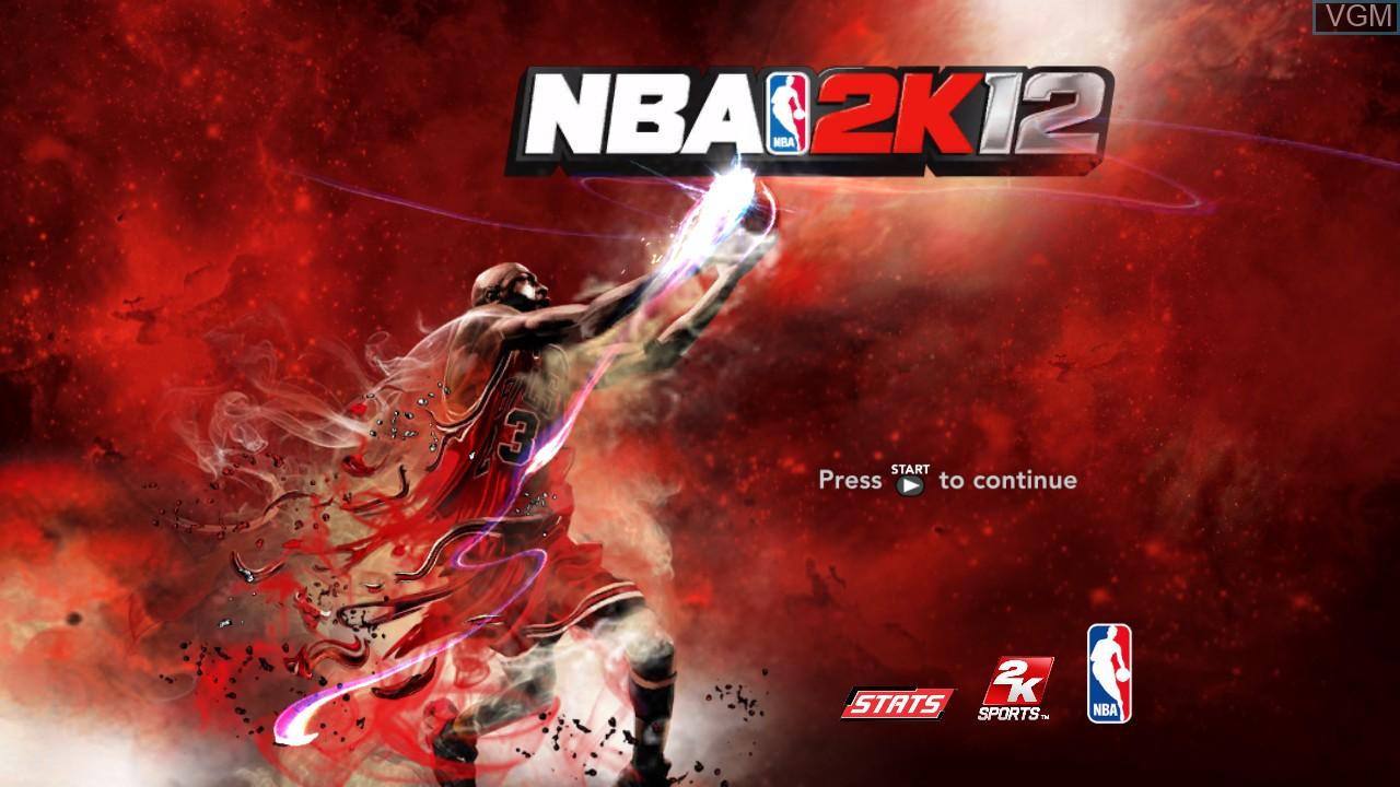Image de l'ecran titre du jeu NBA 2K12 sur Microsoft Xbox 360