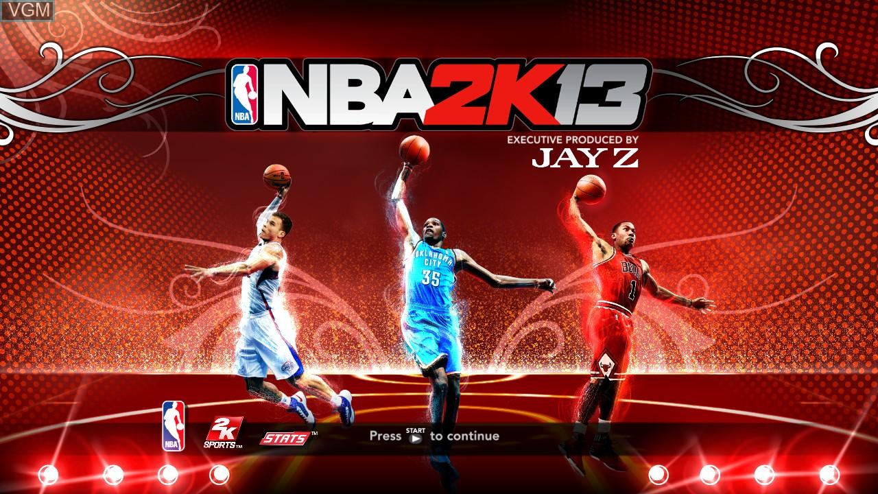 Image de l'ecran titre du jeu NBA 2K13 sur Microsoft Xbox 360
