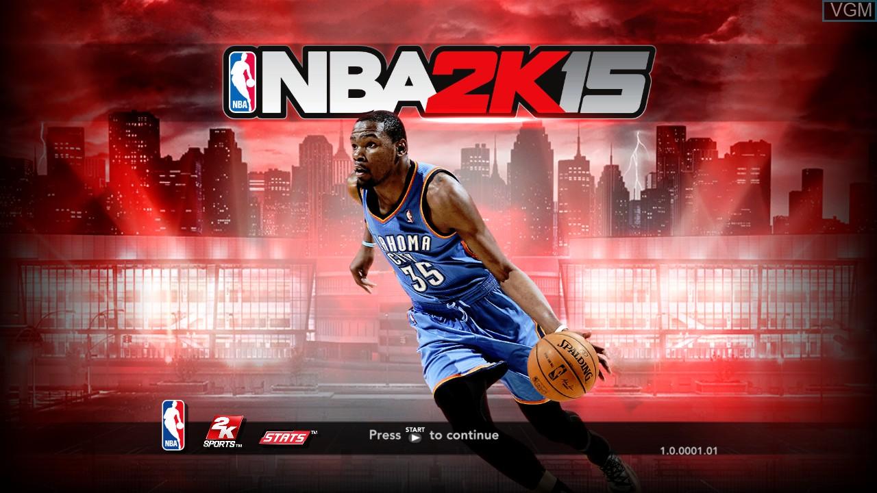 Image de l'ecran titre du jeu NBA 2K15 sur Microsoft Xbox 360