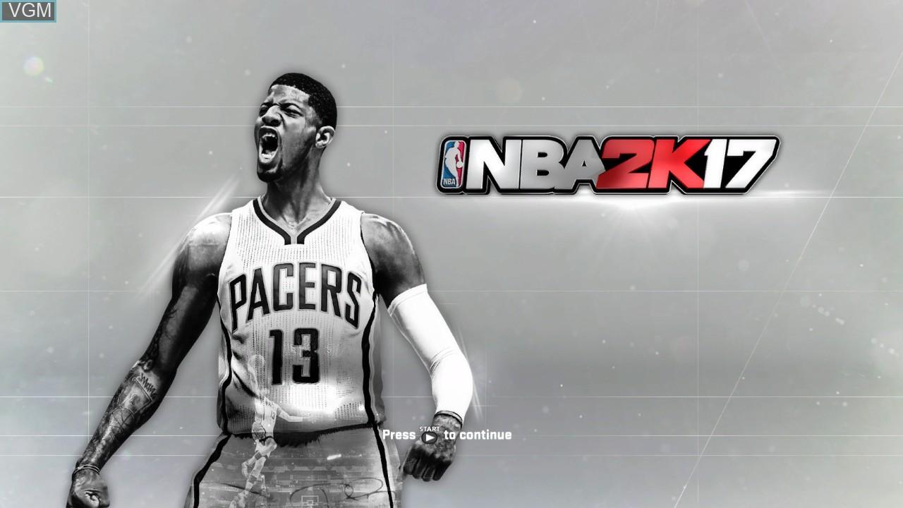 Image de l'ecran titre du jeu NBA 2K17 sur Microsoft Xbox 360
